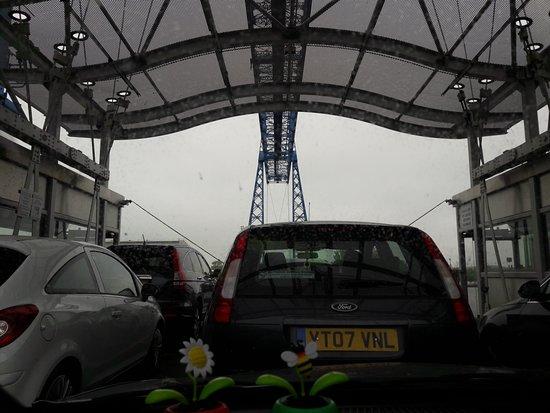 Tees Transporter Bridge: REDUCED TO NINE CARS MAXIMUM NOWADAYS