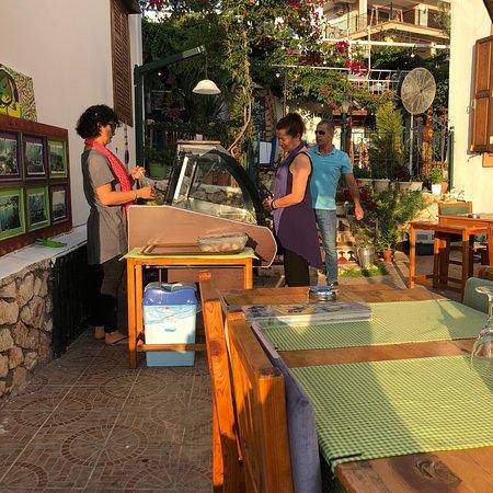 Sako Restaurant: The Krazy Kat owner with her assistant Ayse.