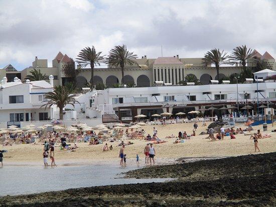 Barcelo Corralejo Bay: View of hotel from beach.