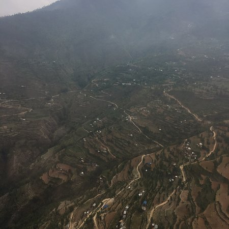 Himalaya Holiday Service: View from helicopter trip from Kathmandu to Lukla.