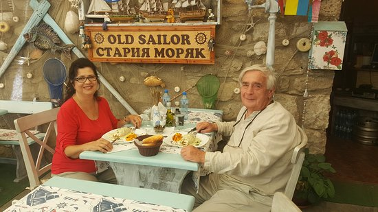 Old Sailor: enjoing the squid - it not could be better
