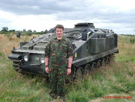 Tanks-Alot: One very happy boy.