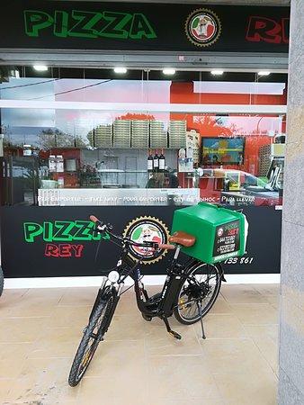 Pizza Rey : LA NUEVA BICI  DE REPARTO