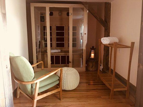 The Woodstocker B&B: Private sauna in Mellow Moose Room