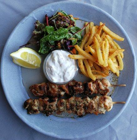 Marathias, Grécia: Chicken Suflaki
