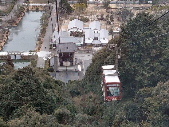 Iwakunijo Ropeway: 纜車上景色