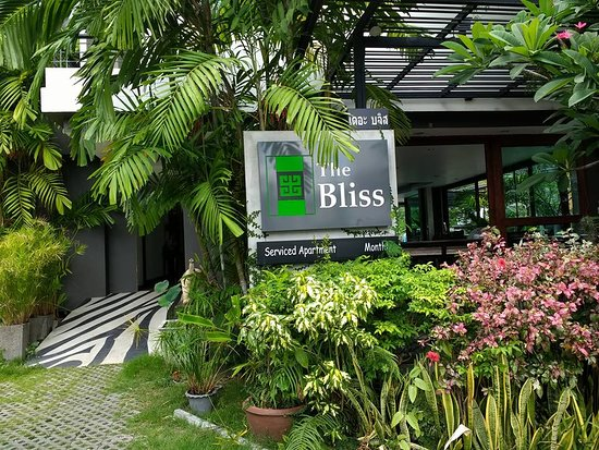 The Bliss Hotel: View from the front of the Bliss.