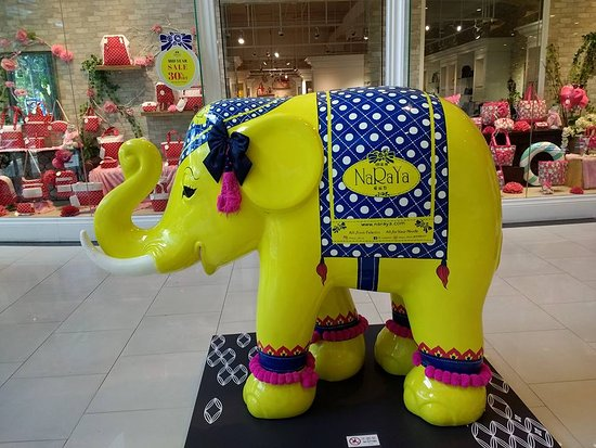 Maya Lifestyle Shopping Center: A side view of the elephant figure at the entrace to Maya.