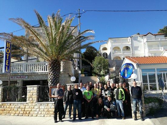 Arbanija, Croatia: Our moto group