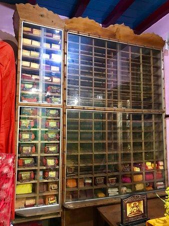 Gadhan Thekchhokling Gompa Monastery: Religious scrolls
