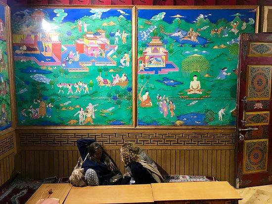 Gadhan Thekchhokling Gompa Monastery: Inside the monastery
