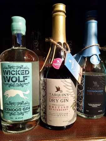 The Bull And Dragon : A small selection of our Gins