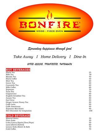 Bonfire Restro: BONFIRE MENU PAGE 1