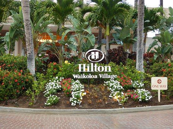 Hilton Waikoloa Village: ロビー前ロータリーです