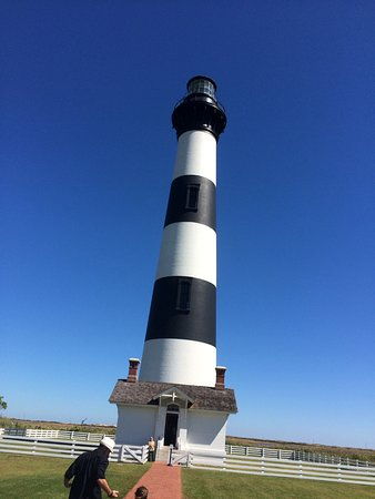 Bodie Island Lighthouse: Not a hard climb to top.  Nice book store and visitors center with restrooms.
