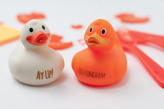 Nottingham, UK: Personalised and engraved rubber Ducks.