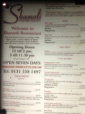 Shamoli : Pricelist