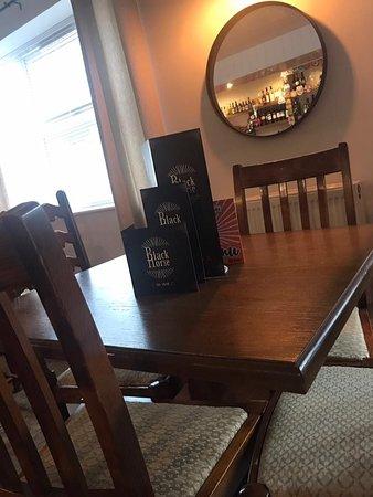 The Black Horse: Bar Tables