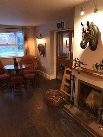 The Black Horse: Fireplace