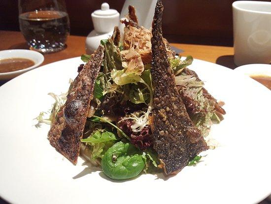 Nobu Moscow Restaurant: Burnt salmon skin