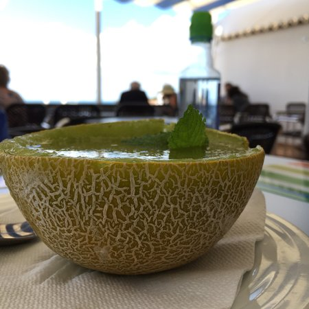 Casa Azul: La Sopa de Melón y la Lasaña de Soja... Mmmm!!! Y no hablar del postre 🤤