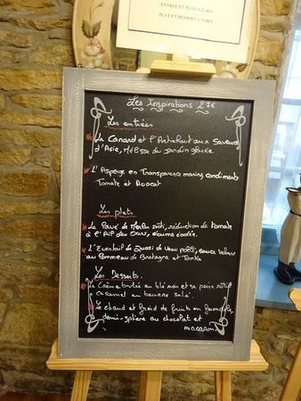 Moelan sur Mer, Fransa: Le menu...