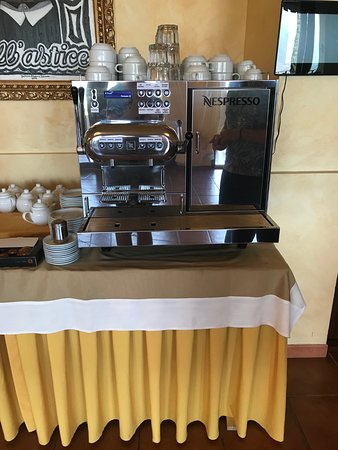 Hotel Villa Angela: FANTASTIC coffee machine