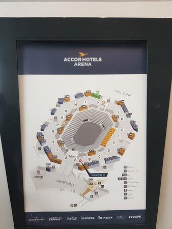 AccorHotels Arena: Layout.