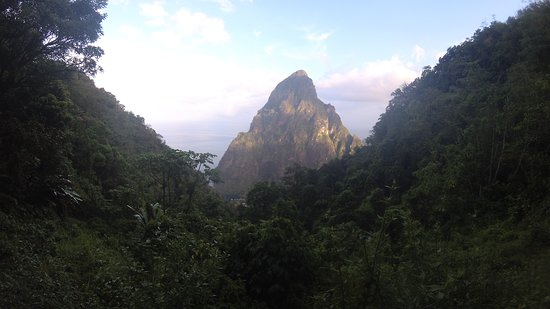 View from the top of the Fond Doux plantation trail (Petit Piton)