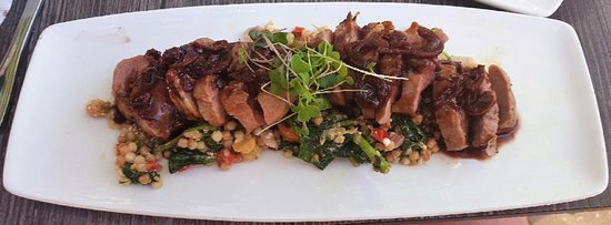 Clear Sky on Cleveland : Duck breast over couscous