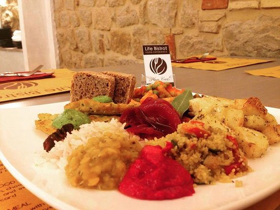 The Life Bistrot - Plant Based Restaurant - Archaeological Site: Organic amazing Dish