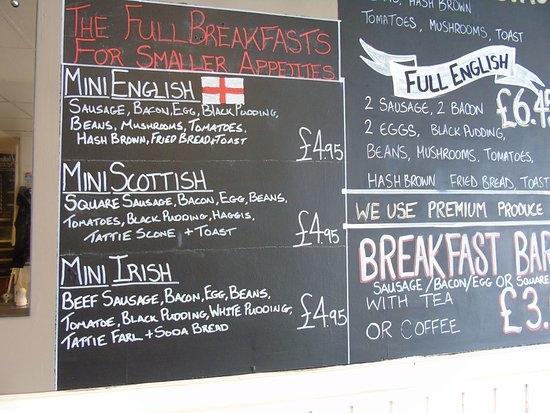Foxhall Cafe, Carvery & Grill: Eat in Menu Boards