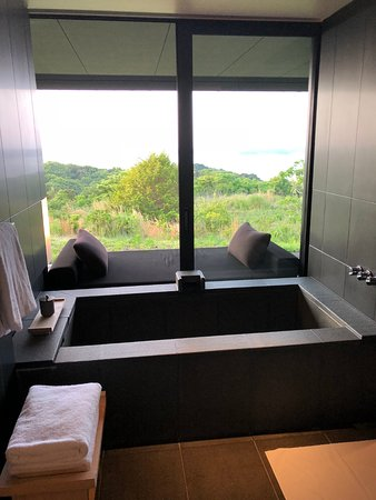 Amanemu : your own hot springs-fed tub; wash off first in the adjacent shower