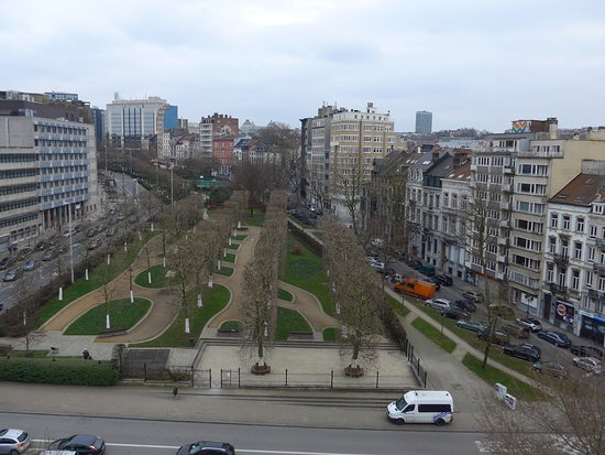 Porte de Hal : view on the city from the top