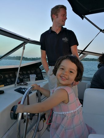 Al & Alma's Supper Club and Charter Cruises : Daughter got to captain the boat!