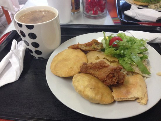 Deyna's Tasty Foods : So good! Salad. Fishcakes. Saltfish and bakes. Fried chicken.