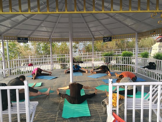 Atmashree Yoga Retreat: morning yoga