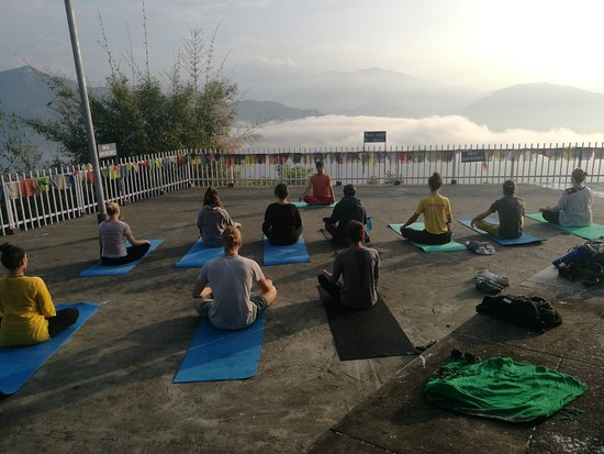 Atmashree Yoga Retreat: morning hatha yoga