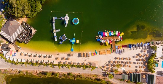 Quinta do Lago, Portugal: Aerial lake panoramic view