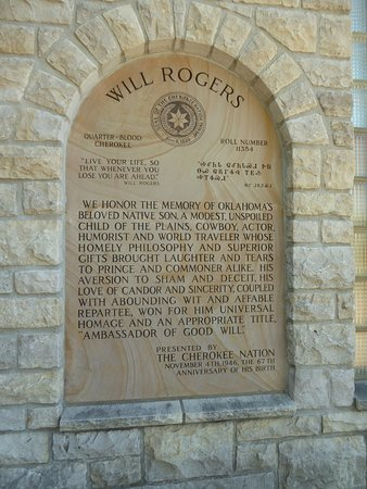 Will Rogers Memorial Museum: Plaque