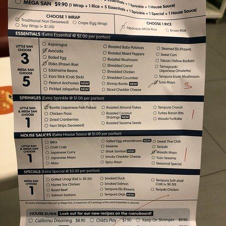 makisan order form  photo9.jpg - Picture of Maki-San, Singapore - TripAdvisor