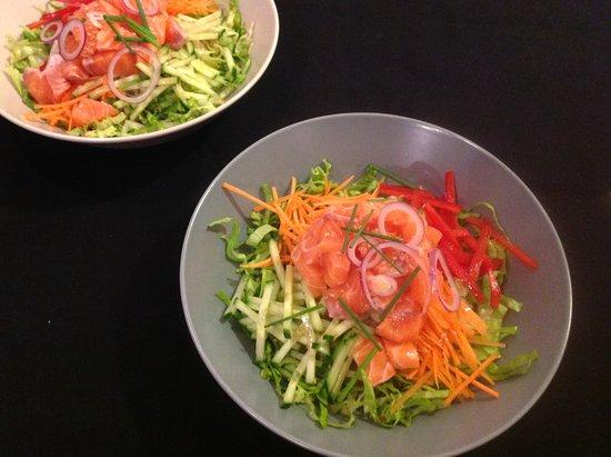 Biovino : bibimbap au saumon