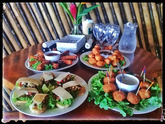 The Sunken Fish Tree Top Ocean View Bar & Restaurant: easy appetiser selections for parties, groups, just for you!