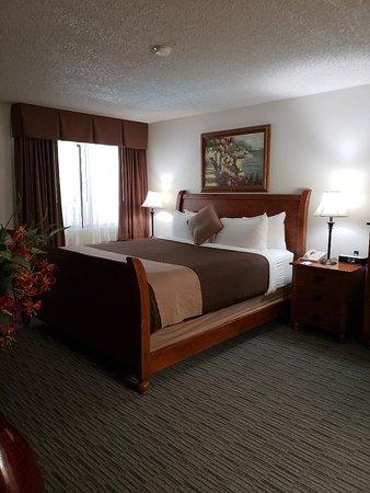 O'Cairns Inn & Suites: Deluxe Suite Bedroom Area