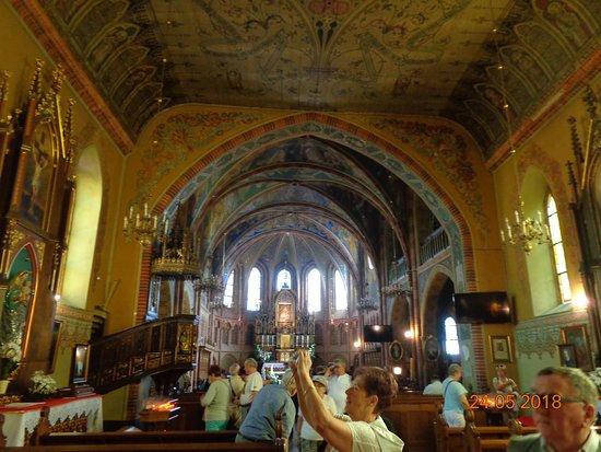 Piękny ołtarz. Sanktuarium Maryjne Gietrzwałdzkiej