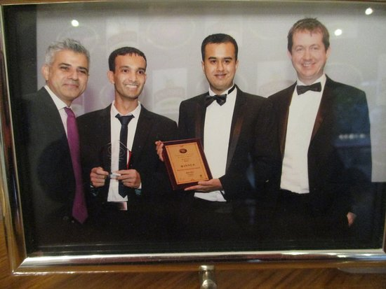 Bexley, UK: Staff with the Mayor of London Mr Sadiq Khan
