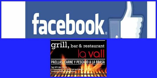 Bar & Restaurant La Vall: Follow us on Facebook