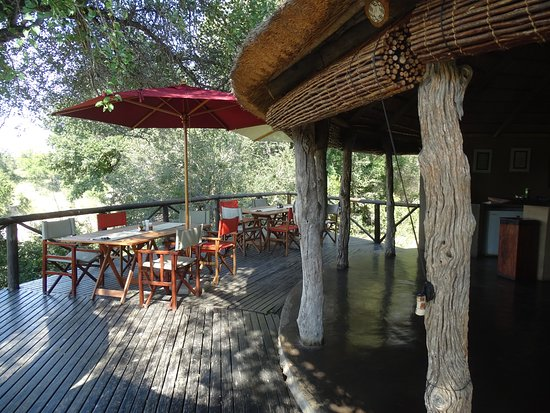 Timbavati Private Nature Reserve, South Africa: Lunch-Terrasse