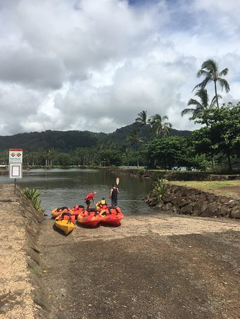 Kayak Wailua: At the beginning of our trip. Didn't want to spoil the trip.