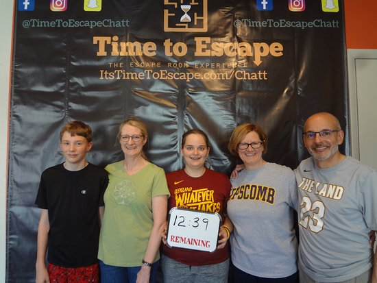 Time to Escape: the Escape Room Experience (Chattanooga): These newbies blew us away with over 12 minutes left in our Sabotage room!